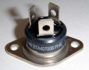 BTA 40/700B-ST Triac 40A/700V - Igate 50mA Ugate 1.5V Case RD91 with faston 10 - 8.40 /100-6.45