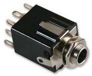 6.3mm female jack socket - chassis stereo 2 x switch soldering