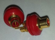 RCA/Cinch chassis isolated - gold plated red