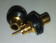 RCA/ Cinch chassis isolated - gold plated black