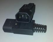 IEC conn C14 3pol male cable - 10A