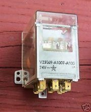 V23009-A7-A100 24VDC - 3 x max.250VAC 8A changeover 6.3mm faston connection