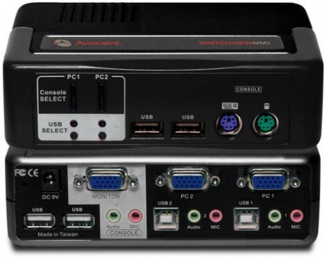 Avocent 2-port KVM 2SVPUA20 - Avocent SwitchView MM2 2-port Remarketed 90 days warranty.