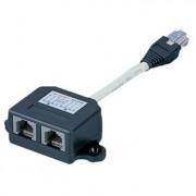 ISDN splitter - ISDN verdeler, 1x RJ45 plug naar 2x RJ45 contra,br/br/ISDN Distributor, 1xRJ45 plug to 2x RJ45 outlet