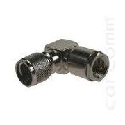 Coax adapter FME male - mini UHF male angled