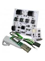 LED-Warrior04 Starter kit - Details: LED-Warrior04 is an intelligent 4 channel LED driver with I²C, DMX-512, and DALI