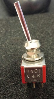 C7K 7401 switch On-None-On - 4P soldering flatted actuator
