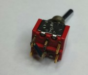 C7K 7211 switch On-Off-On - 4P soldering flatted actuator used - 3.25