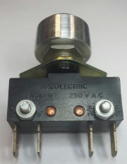 Pusbutton Micro-switch - 5A/250VAC One N/O and one N/C Arcolectric